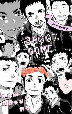 Find images and videos about anime, Collage and haikyuu! Daichi Sawamura, Tsukishima Kei, Daisuga, Oikawa Tooru, Kageyama, Haikyuu Wallpapers, Animes Wallpapers, Me Me Me Anime, Anime Love