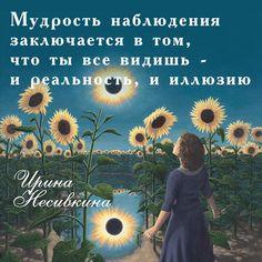 Мудрость наблюдения заключается в том, что ты все видишь и реальность и иллюзию.  Видишь и позволяешь этому быть. Ты не борешься и не боишься.  И в какой-то момент под мудрым светом наблюдения тебе больше не захочется вступать в иллюзию Ирина Несивкина  #успех #привычка #каждыйдень #благополучие #деловыелюди #обучение #сделайвсеневозможное #иринанесивкина #фраза_дня_про_жизнь #умныемысли #цитаты #мудрость #выбор #жизнь #мысли #духовныеценности #энергия #психологияжизни #мудрыемысли…
