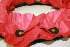 Paper poppies for ANZAC Day Wreaths