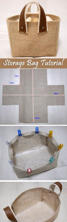 Fabric Box Tutorial Storage Fabric Burlap Box Pattern and Tutorial. Bag Step by step photo tutorial…Storage Fabric Burlap Box Pattern and Tutorial. Bag Step by step photo tutorial… Sewing Tutorials, Sewing Crafts, Sewing Projects, Bag Tutorials, Sewing Ideas, Sewing Tips, Fabric Crafts, Diy Projects, Burlap Crafts