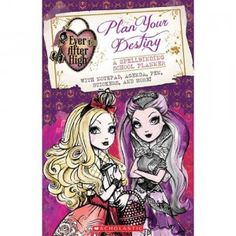 The Ever After High Plan Your Destiny: A Spellbinding School Planner is a tri-fold planner and activity book featuring artwork and characters from Mattel's Ever After High.