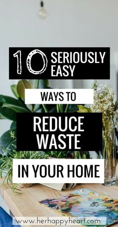 10 Super Easy Ways to Reduce Waste in Your Home Green living tips Clean living tips Eco friendly home reduce waste tips Zero Waste, Reduce Waste, Reduce Reuse, Clean Living, Living At Home, Simple Living, Frugal Living, Living Room, Eco Friendly Cleaning Products