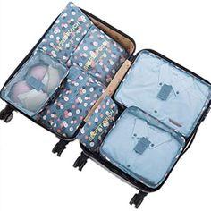 Multifuncional: ideal para viajes, viajes de negocios, organización en el hogar, camping o deportes, etc.  Ligero y compacto - Bolsas de almacenamiento de compresión de equipaje perfectas y fáciles de transportar para un viaje cómodo.  Gran compatibilidad: guarde la ropa, el calzado, los cepillos de dientes, el maquillaje, los bolsos, el teléfono móvil, la batería portátil e incluso los accesorios electrónicos. Large Suitcase, Carry On Suitcase, Buy Luggage, Travel Luggage, Emergency Bag, Travel Cubes, Packing Cubes, Travel Organization, Road Trip Planner