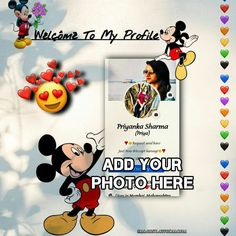 add your facebook screen shot to welcome to my profile frame photo, upload your photo to Mickey Mouse Frame online Name Wallpaper, Boys Wallpaper, Mobile Wallpaper, Emoji Wallpaper, Boy Images, Boy Pictures, Boy Photos, Tom And Jerry Photos, Mickey Mouse Frame