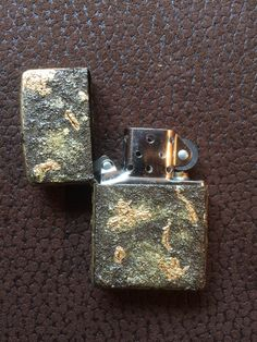Original Zippo:   Black Crackle Custom Made:   Various Types of Paint