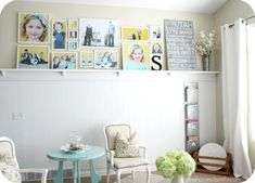 Gallery walls add flair and personality to a room! #SpringintotheDream