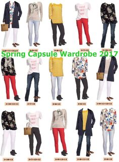 (Winter to) Spring Capsule Wardrobe 2017...not my favorite individual items, but love the polished casual look - a similar capsule would be perfect for me