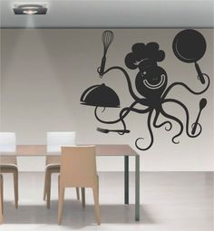 #cocina #walldecal #decals #viniles #vinil #kitchen #cook #octopus