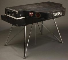 A Yamaha CP70M electric stage piano -- used to love noodling-around on one of these. Bought a used one when I was stationed in Japan. Unlike pianos that synthesized the sound through circuitry, the CP70 had an actual tensioned soundboard and strings. Taught myself to play chords and got pretty good at it...sold it when I was stationed in Hawaii...