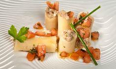 Receta de Rigatoni rellenos de sardinas y mostaza