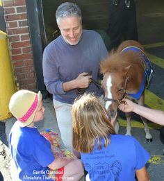 John Stewart and Gentle Carousel Miniature Therapy Horse Honor
