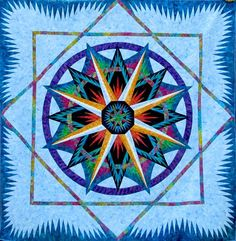 Mariner's Compass, Quiltworx.com, Made by CI Roger Kerr of CS Quilting From The Heart.