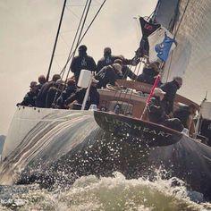 Tall Ships and Sailing Sailboat Racing, Sail Racing, J Class Yacht, Classic Sailing, Sport Boats, Sailing Ships, Sailing Yachts, Love Boat, Sail Away