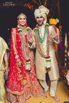 The most adorable couple <3 The smiles on their faces show exactly how sure they were about their decision. #functionmania #adorablecouple #couplegoals #weddings #indianweddings #love