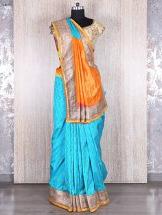 Sky Blue Silk Saree