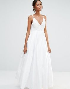 Buy A Star Is Born Embellished Cami Strap Pleat Detail Maxi Dress at ASOS. Get the latest trends with ASOS now. Best Wedding Dresses, Bridal Dresses, Wedding Gowns, Hair Jewels, Asos, Wedding Inspiration, Wedding Ideas, Dresses With Sleeves, Formal Dresses