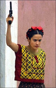 Actress Salma Hayek as Frida Kahlo