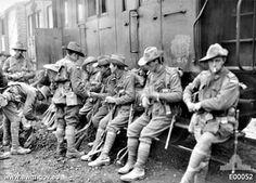 Australian soldiers at Dernancourt, December 1916
