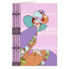 Shelby, 1930s Lady in Lilac and Lavender Card