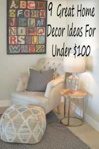 9 Great home decor ideas for under $100, lots of pictures