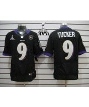 Nike Baltimore Ravens #9 Justin Tucker Black Alternate Super Bowl XLVII Men's Stitched NFL Elite Jersey