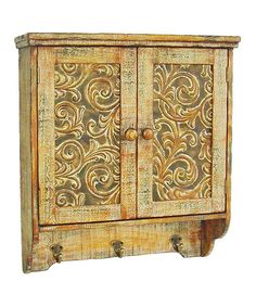 Another great find on #zulily! Antiqued Cabinet & Hooks #zulilyfinds