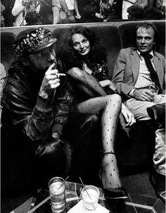 Diane and photographer Ara Gallant at Studio 54 circa 1978.