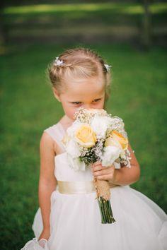 Stop and smell the roses: http://www.stylemepretty.com/new-jersey-weddings/2014/10/17/new-jersy-backyard-barn-wedding/ | Photography: Jenelle Kappe - http://jenellekappe.com/