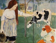 The Milkmaid by Paul Gauguin,  1889
