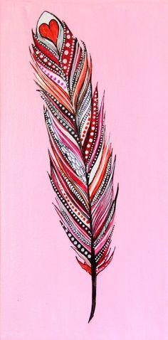 Alisa Burke — feather original painting