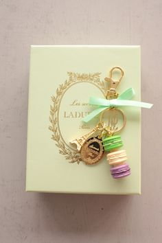 laduree- famous for it`s macaroons in France have this key holder or bag charm to give as a present or keep yourself !