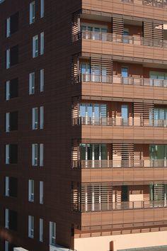 Terracotta Panels Create Zigzagging Walls For Madrid University Building By  Estudio Beldarrain. | Madrid | Pinterest | Kerámiák, Spanyolország és Épület