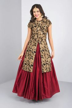 1600 AD - black and red embroidered lehenga #flyrobe #weddings #friendsofthebride #designerwear #indianweddings#indianweddingoutfits