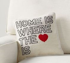 Home is Where the Heart Is Pillow #potterybarn