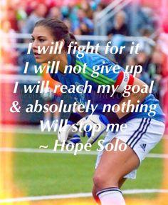 Hope Solo- A woman's soccer uniform was definitely part of Deana's attire. www.adealwithGodbook.com