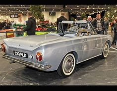 An extremely rare Ford Cortina Saxon convertible at the London Classic Car show