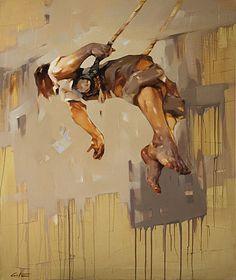 COSTA DVOREZKY, Boy 0n Swing  2012, huile sur toile / oil on canvas