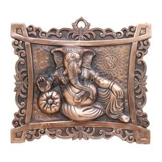 Crafted with gunmetal, this lightweight wall hanging is made to provide an ancient art decor to your interior. Its lightweight and reasonable value make it an easy gifting entity. Clay Wall Art, Clay Art, Mural Painting, Mural Art, Wall Sculptures, Sculpture Art, Kalamkari Painting, 3d Wall Murals, Ganesha Art