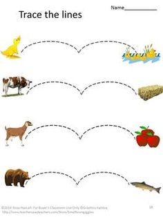 This Animal Tracing set contains 19 tracing worksheets that include straight lines, curvy lines and zigzag lines. Tracing worksheets will help your students develop fine motor skills. This in turn helps develop writing.   These worksheets are appropriate for use in a daycare, preschool and kindergarten. They may also be used as independent tasks for children with autism or other special education needs.