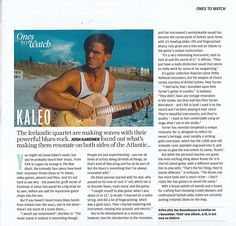 The Guitar Magazine featured Kaleo in the November 2017 issue - JJ says nice things about his Marrakech Runes resonator! Resonator Guitar, Guitar Magazine, Marrakech, Nice Things, Runes, Acoustic, Guitars, November