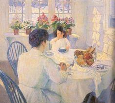 'The Breakfast Room' ~ Bernhard Gutmann (German, 1869-1936)