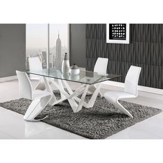 global furniture high gloss white dining table