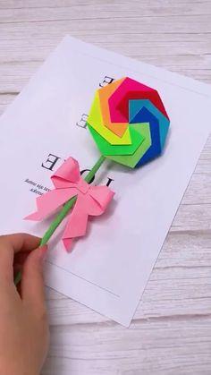 Instruções Origami, Paper Crafts Origami, Diy Paper, Oragami, Diy Crafts Hacks, Diy Crafts For Gifts, Diy Arts And Crafts, Diy Projects, Paper Flower Tutorial