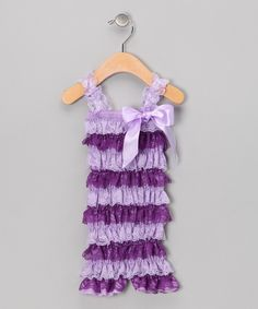 diva daze- Purple Lace Romper for toddler