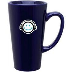 16 Oz. Glossy Cobalt Blue Tall Latte Mug