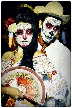 Day of the dead make-up and costume inspiration.