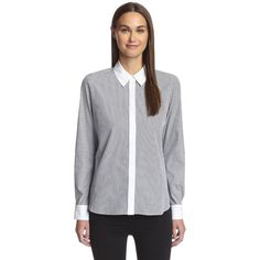 Frame Women's Long Sleeve Woven Shirt ($16) ❤ liked on Polyvore featuring tops, long sleeve shirts, long sleeve tops, long-sleeve shirt, oxford shirt and long sleeve woven shirt