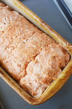 This easy ground chicken meatloaf recipe only has 6 ingredients but is filled with homestyle appeal. This easy meatloaf recipe is a quick spin on an old classic and is ready to be introduced to your weekly menu roundup. Easy Meatloaf, Meatloaf Recipes, Ground Chicken Meatloaf, Meat Loaf Recipe Easy, Quick Meals, Chicken Recipes, Brunch, Low Carb, Dinner Ideas