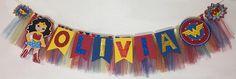 #WonderWoman banner, wonder woman Tassel Garland, cake smatch, #wonder woman #birthday party, super heroe party, wonder woman birthday banner