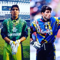 Only Italians during the could pull these beauties off. Classic Football Shirts, Retro Football, Football Kits, Vintage Football, Football Players, Different Sports, Retro Shirts, Goalkeeper, Cool Outfits
